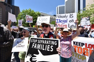 Protestors in front of the Byron G Rogers Federal building. #CloseTheCamps United We Dream, American Friends Service Committee, and Families Belong Together led protests across the country at members of Congress's offices to demand the closure of immigrant detention centers.