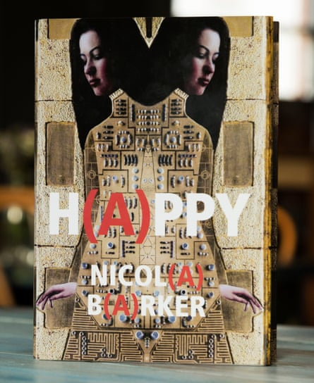 The cover of H(a)ppy by Nicola Barker, which has just won the Goldsmiths prize