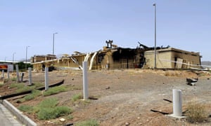 A picture provided by Iran's Atomic Energy Organisation shows a warehouse after it was damaged at the Natanz facility, one of Iran's main uranium enrichment plants, south of Tehran, on July 2, 2020.