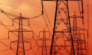 High-Voltage electricity pylons..