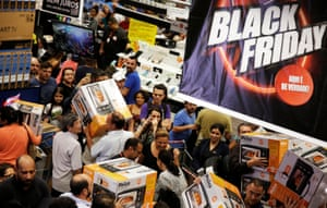 Shoppers purchase retail items on Black Friday in Sao Paulo, Brazil