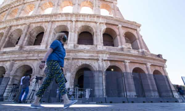 Colosseum reopens to tourists: 'With so few of us we can enjoy it more' | Coronavirus outbreak | The Guardian