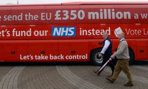 The Brexit bus bearing the controversial NHS funding claim