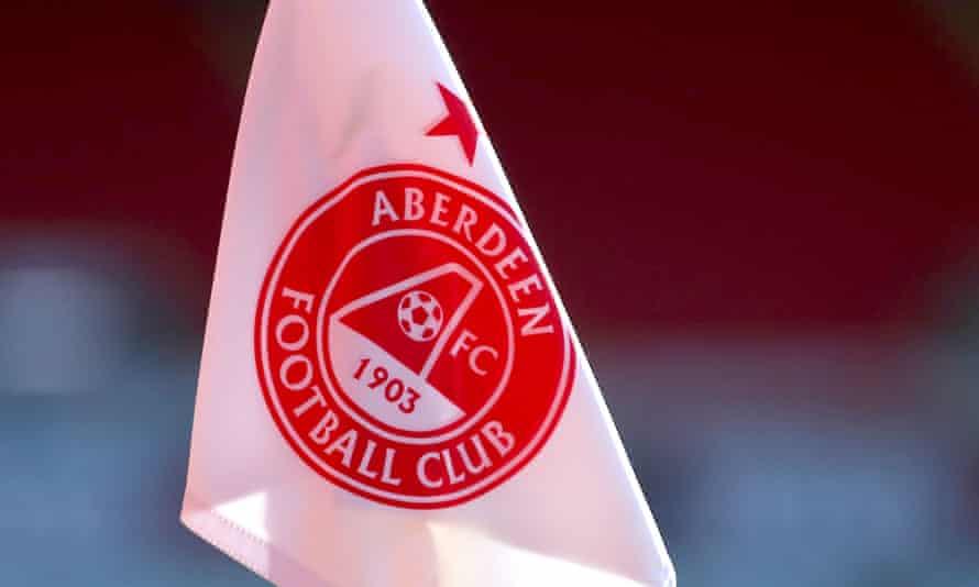 A corner flag at Aberdeen's stadium