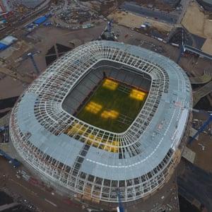 An aerial view of Mordovia Arena.