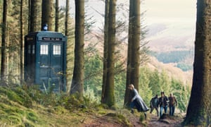 Jodie Whittaker, Tosin Cole, Mandip Gill and Bradley Walsh in Doctor Who.