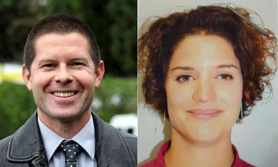 Deputy police commander Jean-Baptiste Salvaing (L) and Jessica Schneider.