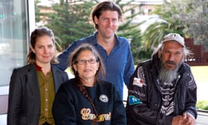 Dolly Talbott and her brother Steve, with their legal team, Nadja Zimmermann and Brendan Dobbie from the NSW Environmental defenders office.