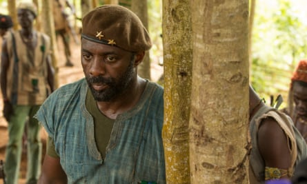 Elba as the Commandant in Beasts of No Nation.