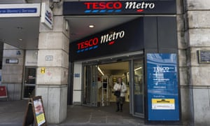 A Tesco metro store in London today.