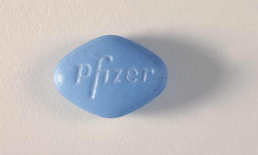 A Viagra tablet