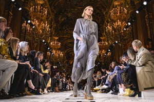 Paris, France: Anja Rubik walks the runway during the Stella McCartney autumn/winter 2019/20 show in fashion week
