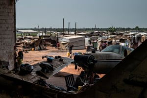 A camp for refugees and displaced people at M'Poko airport in Bangui