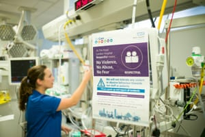 The Royal London hospital has started to give written warnings to individuals who assault staff