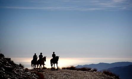 Sierra Nevada mountain range southeast of Granada, Spain