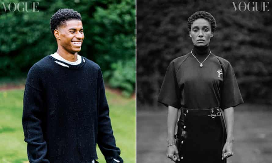 September's Vogue features cover stars Marcus Rashford and Adwoa Aboah
