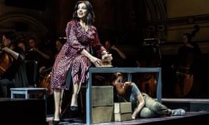 Force and veracity … Alessandra Volpe as Amneris and Alexandra Zabala as Aida.