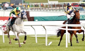 One For Billy, right, ducked out at Cheltenham in an extraordinary finish last month.