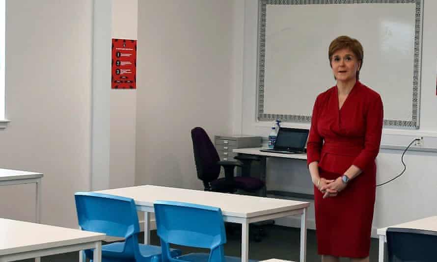 Nicola Sturgeon makes a visit to a West Lothian school prior to last week's reopening of schools