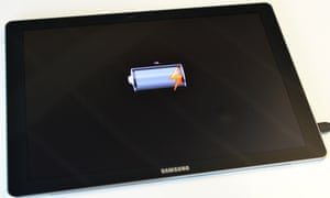 dead battery on a samsung tabpro s