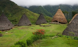 The traditional village of Wae Rebo in the district of Manggarai.