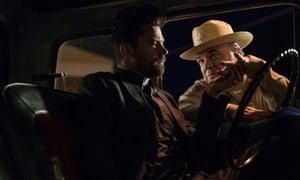 Dominic Cooper as Jesse Custer, W Earl Brown as Hugo Root.