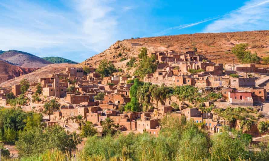 Pueblo bereber en el Parque Nacional Toubkal, Marruecos