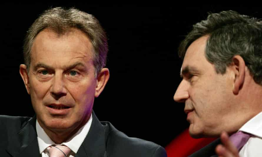 Toxic: Gordon Brown talks to Tony Blair at the Labour party conference in 2006.