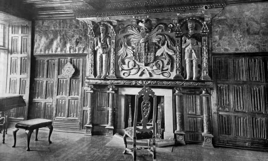 Gwydir Castle's missing Tudor oak parlour.