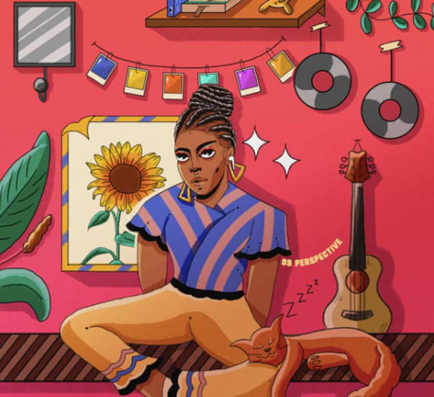 "Okay Africa promotes all forms of culture. This is by South African illustrator Sinenhlanhla ""99perspective"" Chauke, part of his lockdown Scenic Illustrations of Black People In Safe Spaces series"