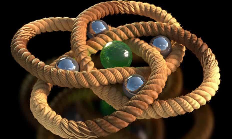 Made from 192 atoms linked in a chain, the knot is only two millionths of a millimetre wide, less than 200,000 times the width of a human hair.