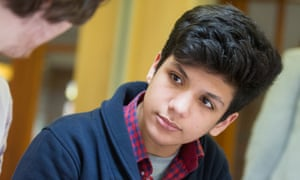 Bilal Batous, 14, part of a family from Idlib who have been resettled near Nottingham.