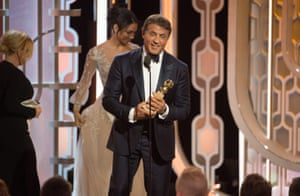Sylvester Stallone receivedthe Golden Globe for Best Supporting Actor in a Motion Picture in Creed