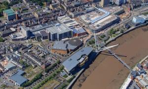 Newport aerial view