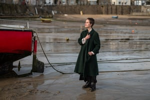 Author Lamorna Ash photographed in Newlyn in Cornwall