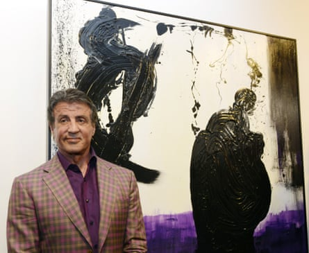 Sylvester Stallone attends the opening of his show Real Love in France last year, he is not likely to be Trump's best supporting actor