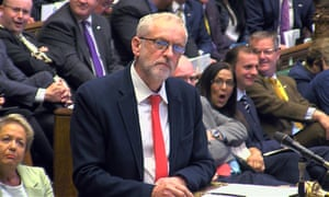 Labour party leader Jeremy Corbyn in the House of Commons on Monday