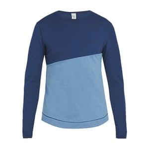 two colour blue long sleeved t-shirt Sorensen Matches