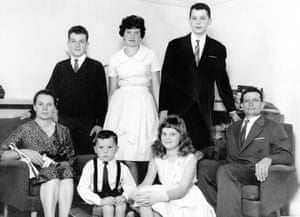 Lucy with her husband, Ernesto, and five children, from top left, Mario, Maria, Costantino, Gabriella and Luigino in 1959