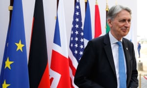 FRANCE-G7-FINANCEBritish Chancellor of the Exchequer Philip Hammond attends the G7 Finance Ministers and Central Bank Governors' meeting in Chantilly, near Paris, on July 17, 2019, as part of preparations for the summit in Biarritz. - France holds the Presidency of the Group in 2019. The Leaders' Summit will be held in Biarritz from August 24 to 26, 2019. (Photo by PASCAL ROSSIGNOL / POOL / AFP)PASCAL ROSSIGNOL/AFP/Getty Images