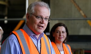 Australian prime minister Scott Morrison visited the Gold Coast to help campaign in the Queensland state election