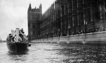 Suffragette boat on the Thames