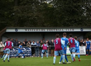 Westfields on their way to beating Leiston at Allpay Park.