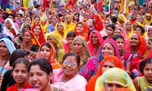Pushkar India Gathering of brahmin woman