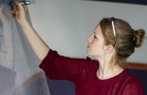 Sarah teaching in Cambodia.