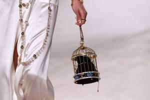 A birdcage bag.