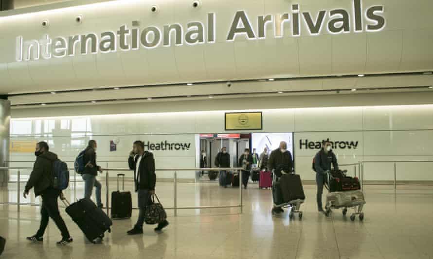 Heathrow airport arrivals, London, UK