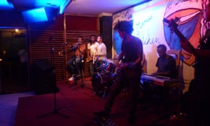 A performance at Mama's Kitchen, a jazz club in Addis Ababa, Ethiopia.