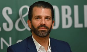 Donald Trump Jr attends a signing event for his book Triggered at Barnes & Noble in New York, New York, on 5 November.