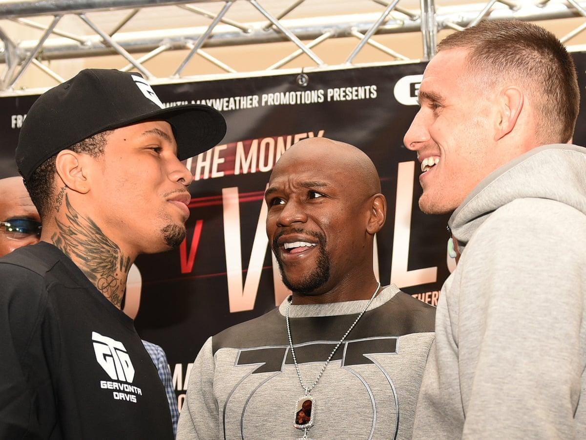 Gervonta Davis talks a good fight but Floyd Mayweather Jr steals limelight    Boxing   The Guardian
